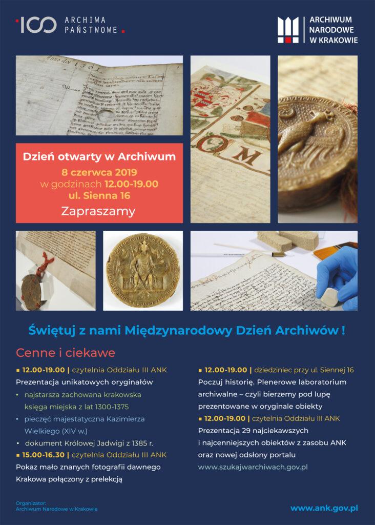 Plakat z okazji Międzynarodowego Dnia Archiwów