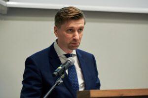 Pan Jarosław Czuba, Dyrektor Generalny Ministerstwa Kultury i Dziedzictwa Narodowego odczytuje list Wicepremiera, Ministra Kultury i Dziedzictwa Narodowego