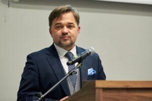 Pana dr Paweł Pietrzyk, Naczelny Dyrektor Archiwów Państwowych podczas przemówienia