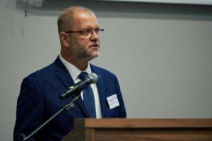 Pan dr hab. Wojciech Krawczuk, Dyrektor Archiwum Narodowego w Krakowie dziękuje wszystkim, którzy przyczynili się do budowy nowej siedziby ANK