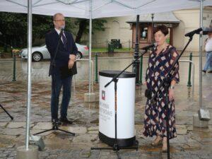 Dr Kamila Follprecht - Zastępca Dyrektora ANK podczas wystąpienia na temat historii Archiwum Aktów Dawnych Miasta Krakowa (fot. Małgorzata Multarzyńska-Janikowska)